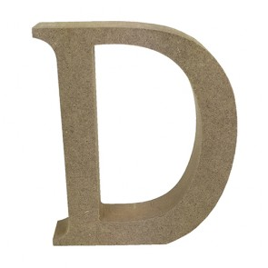 Wood Letter 11cm Natural D