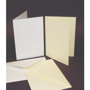 C6 Cards & Envelopes Deckle Edge Ivory (50 Pack)