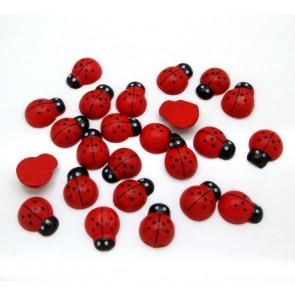 Wood Ladybug 1.5cm (20 Pack)