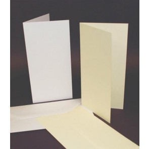 DL Cards & Envelopes White (50 Pack)