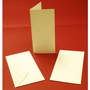 DL Hammered Cards & Envelopes Ivory (10 Pack)