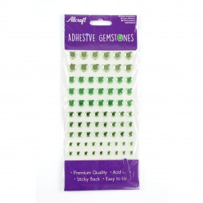 Adhesive Gemstones Heart Green (87 Pieces)