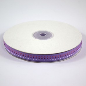 Multi Colour Triple Stitch Ribbon 12mm Purple (22.8 Metres)