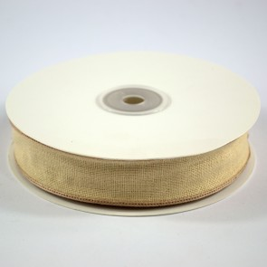 Faux Linen Ribbon 25mm Cream (18 Metres)