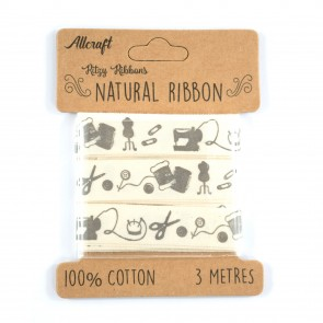 Cotton Ribbon 15mm Sewing (3 Metres)
