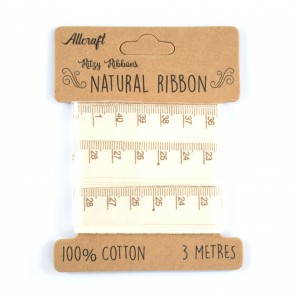 Cotton Ribbon 15mm Measuring Tape (3 Metres)
