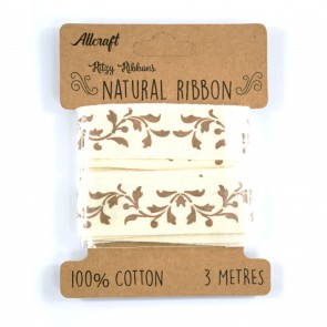 Cotton Ribbon 20mm Filagree (3 Metres)