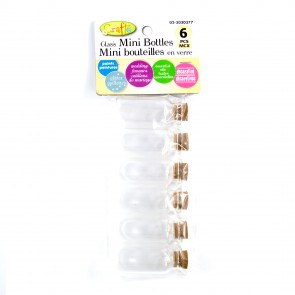 Glass Cork Bottles 5.5cm (6 Pack)