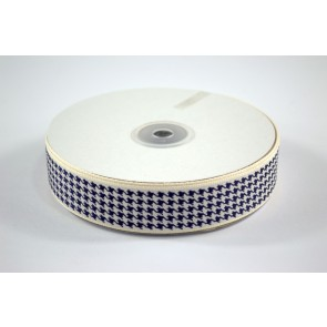Houndstooth Ribbon 25mm Navy (22.8 Metres)