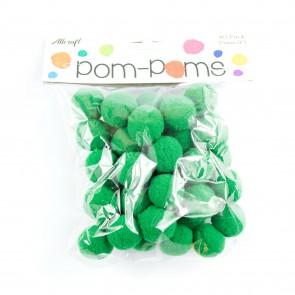 Pom-Pom 2.5cm Green (40 Pack)