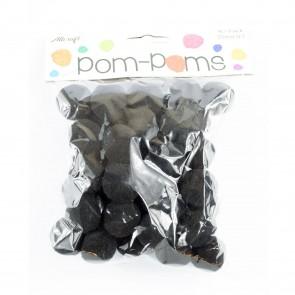 Pom-Pom 2.5cm Black (40 Pack)