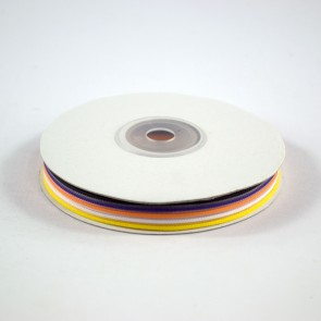 Five Stripes Ribbon 12mm Candycorn (22.8 Metres)