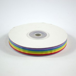 Five Stripes Ribbon 12mm Rainbow (22.8 Metres)