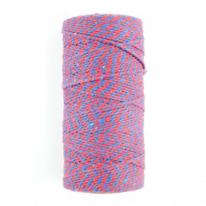 Baker's Twine Two Tone Red & Blue (100 Metres)