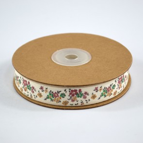 Cotton Ribbon 15mm Fancy Floral (18 Metres)