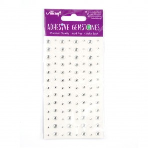 Adhesive Gemstones Clear (104 Pieces)