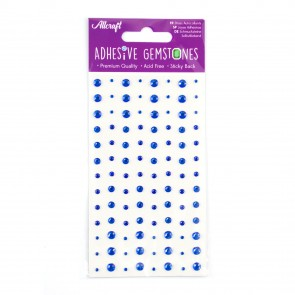 Adhesive Gemstones Blue (104 Pieces)