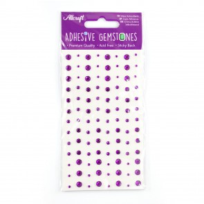 Adhesive Gemstones Purple (104 Pieces)
