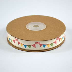 Cotton Ribbon 15mm Colourful Bunting (18 Metres)