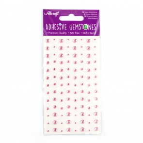 Adhesive Gemstones Light Pink (104 Pieces)