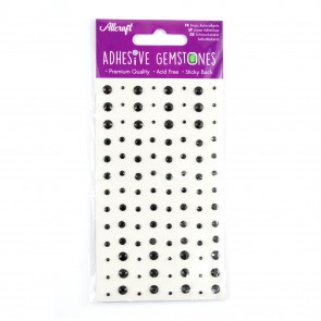 Adhesive Gemstones Black (104 Pieces)