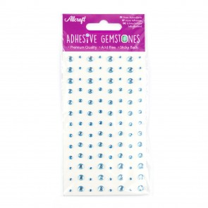 Adhesive Gemstones Light Blue (104 Pieces)