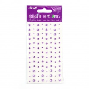 Adhesive Gemstones Lilac (104 Pieces)