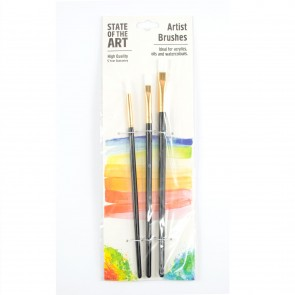 Artist Brush Set Assorted  (3 Pieces)