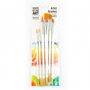 Artist Brush Set Assorted  (6 Pieces)
