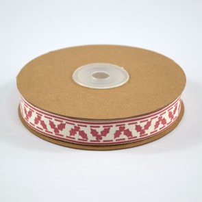 Cotton Ribbon 15mm Holly (18 Metres)