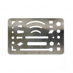 Metal Technical Erasing Shield 6 x 9cm