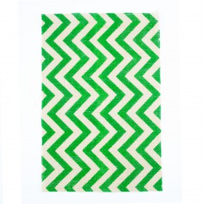 Burlap Sheet A4 Chevrons Green (2 Pack)