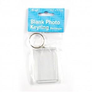 Blank Keyring Rectangle 4.2 x 5.7cm