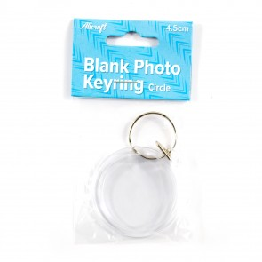 Blank Keyring Circle 4.5cm
