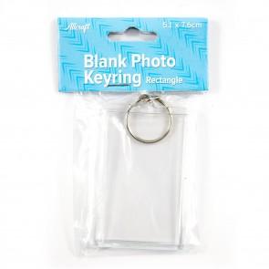 Blank Keyring Rectangle 5.1 x 7.6cm
