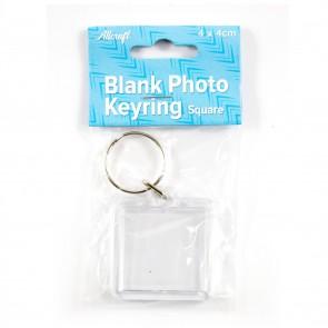 Blank Keyring Square 4 x 4cm