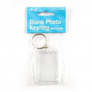 Blank Keyring Rectangle 4 x 5.5cm