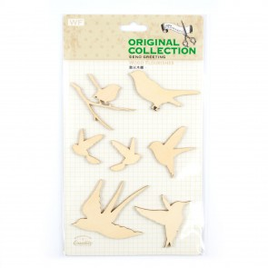 Lasercut Wood Shapes Birds (7 Pieces)
