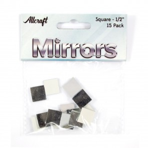 "Mirrors Square 0.5"" (15 Pack)"