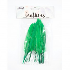 Duck Feather 13cm Green (15 Pack)