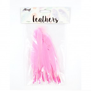 Duck Feather 13cm Pink (15 Pack)
