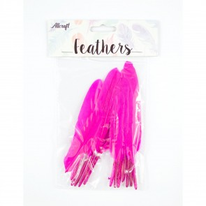 Duck Feather 13cm Cerise (15 Pack)