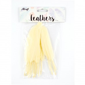 Duck Feather 13cm Cream (15 Pack)