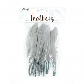 Duck Feather 13cm Grey (15 Pack)