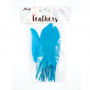 Duck Feather 13cm Turquoise (15 Pack)