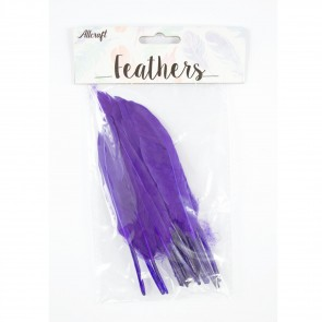 Duck Feather 13cm Purple (15 Pack)