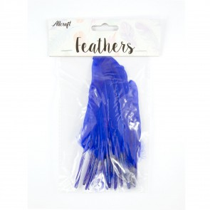 Duck Feather 13cm Royal Blue (15 Pack)