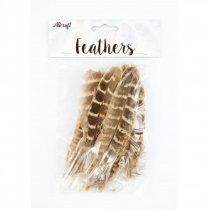 Chicken Feather 14cm Natural 2 (15 Pack)