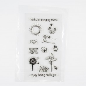 Clear Stamp A5 Spring Frnd (12 Pieces)
