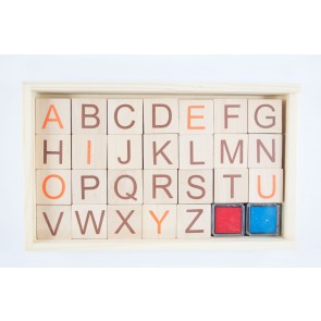 Rubber Stamp Set Alphabet Set (28 Pieces)